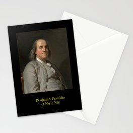Duplessis. Portrait of Benjamin Franklin 2 Stationery Cards