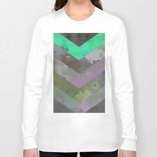 Look Down (Abstract, pastel, geometric artwork) Long Sleeve T-shirt