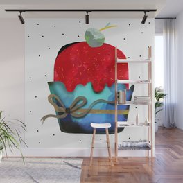 Strawberry Ice cream with pineapple Chips Mint Fudge Wall Mural