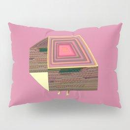 Pink Virtual House Pillow Sham