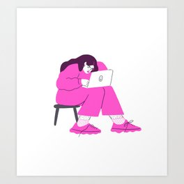 "signing off emails with ""best"" Art Print"