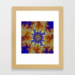 Fractal Checkerboard Framed Art Print