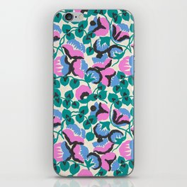Vintage Floral Fabric Design by Paul Poiret, 1920s iPhone Skin