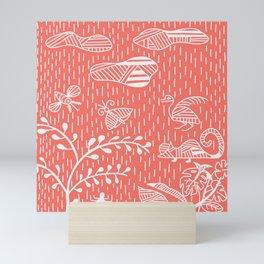 Living Coral Land Life No. 2 Stripes Mini Art Print
