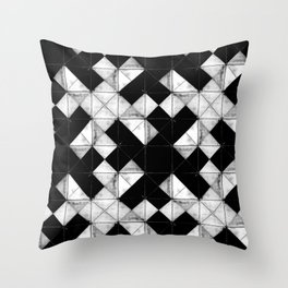 Marbled tile Throw Pillow