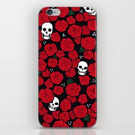 Skulls and Roses Pattern iPhone Skin