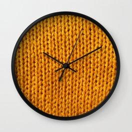 Mustard Yellow Knit Wall Clock