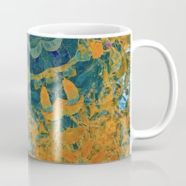 Orange and Green Flora Coffee Mug