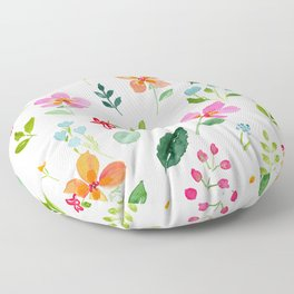 All Things Bright - White Floor Pillow
