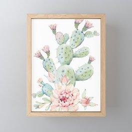 Cactus 3 White #society6 #buyart Framed Mini Art Print