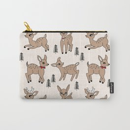Reindeer vintage style cute rudolph the red nosed reindeer pattern Carry-All Pouch