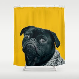 Pug Is Life Shower Curtain