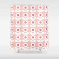 gemma Shower Curtains featuring MCM Bloomin' In The Pink by Lisa Jayne Murray - Illustration