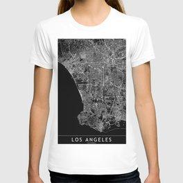 Los Angeles Black Map T-shirt