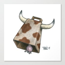 Cow Bell Canvas Print