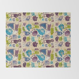 Critter pattern cool Throw Blanket