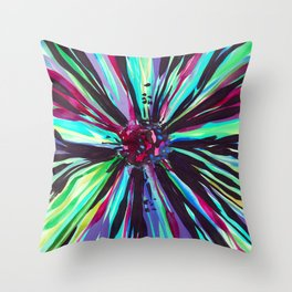 Color Burst Throw Pillow