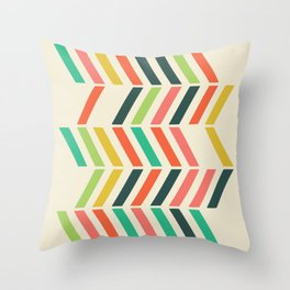 Color line pattern Throw Pillow