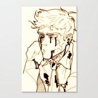 levi Canvas Prints featuring Levi!Cas by PrettyOddChild
