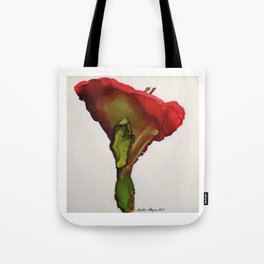 Red Morning Glory By Heather Hayes Tote Bag