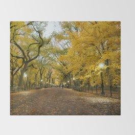 Central Park New York City Throw Blanket