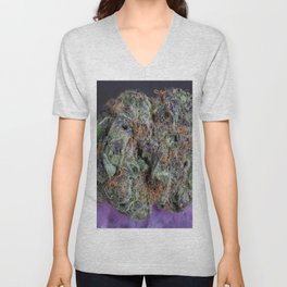Grape Ape Medicinal Medical Marijuana Unisex V-Neck