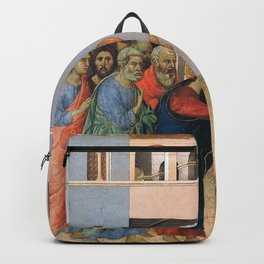 Duccio di Buoninsegna - Jesus opens the Eyes of a Man born Blind Backpack
