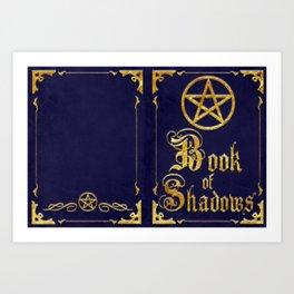 Blue Book of Shadows Art Print
