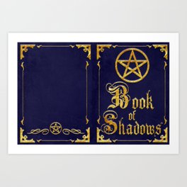 Blue Book of Shadows Art Print