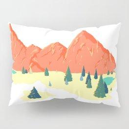 Pink Mountainscape Pillow Sham