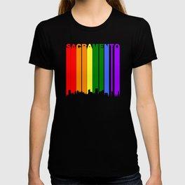 Sacramento Gay Pride Rainbow Cityscape T-shirt