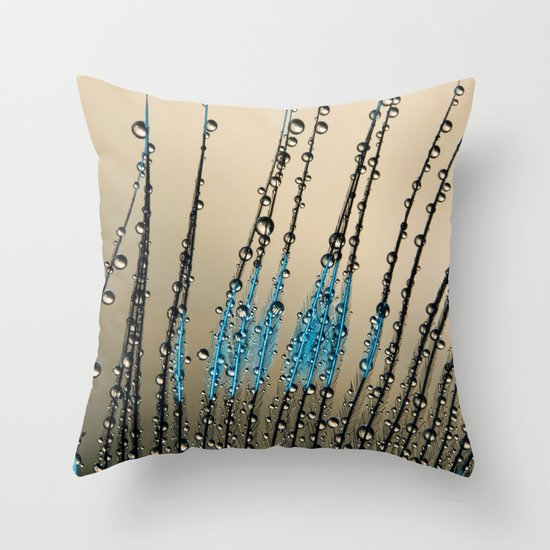 Feather Droplets Throw Pillow