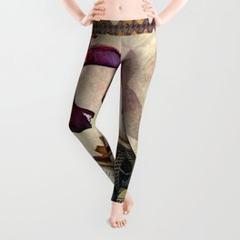 Funny giraffe, steampunk with clocks and gears Leggings