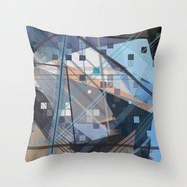 The Future Starts Slow Throw Pillow