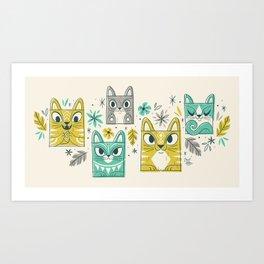 Tiki Kitty Art Print