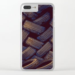 Tired tires Clear iPhone Case