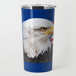Patriotic Eagle 4th of July American Flag Travel Mug