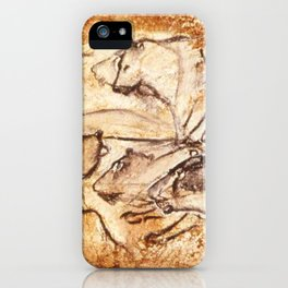 Panel of Lions // Chauvet Cave iPhone Case