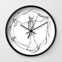 sons of anarchy Wall Clocks featuring Anarchy by LvsD