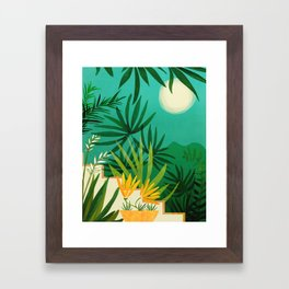 Exotic Garden Nightscape / Tropical Night Series #2 Framed Art Print