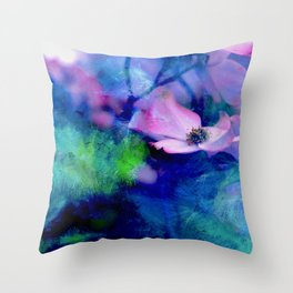 Paint, Petals & Branches Throw Pillow