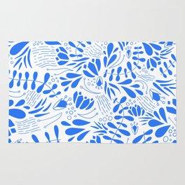 Flora in Blue Rug