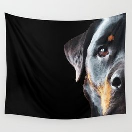 Rottie Love - Rottweiler Art By Sharon Cummings Wall Tapestry