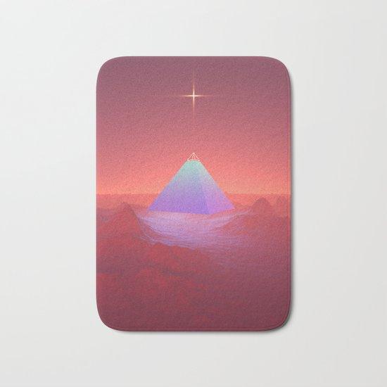 Blue Pyramid Bath Mat