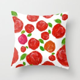 Spanish Forest Apples Throw Pillow