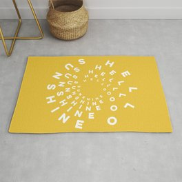 Hello Sunshine #minimal #typography #summervibes Rug