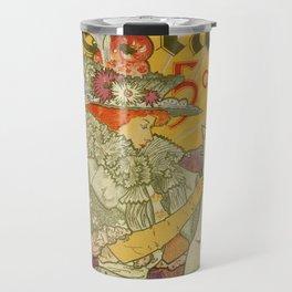 1897 French art nouveau journal advertising Travel Mug