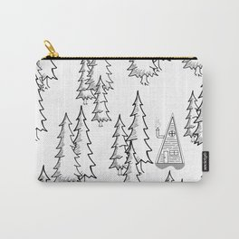 Lost in the wood, a lonely cabin Carry-All Pouch