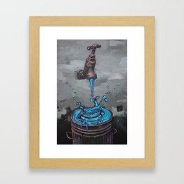 Drop by drop Framed Art Print