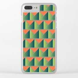 Fake 3D triangles Clear iPhone Case